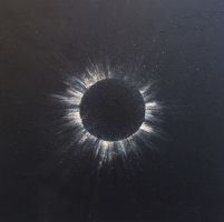 Eclipse - 2015. Acrylic and watercolour on canvas. 91.4cm x 91.4cm -  $450