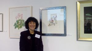 Maria Boredom with her piece 'Wild Flower Collection'.